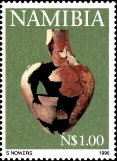 Stamp%3A%20Reconstructed%20pot.%20(Namibia)%20(Early%20Pastoral%20Pottery)%20Mi%3ANA%20826%2CSn%3ANA%20814%2CYt%3ANA%20778%20%23colnect%20%23collection%20%23stamps