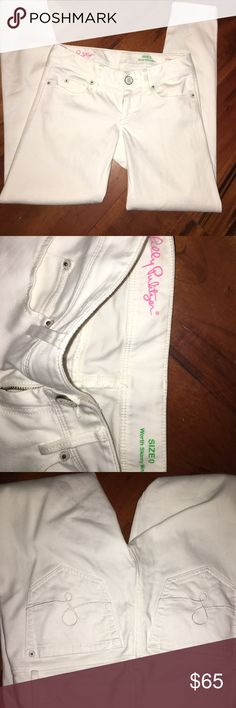 Lilly Pulitzer White Pants Size 0 worth Skinny Minny White Pants. These are skinny ankle pants. Amazing condition. Only reasonable offer accepted. No trades! Great pants for Spring ladies!! Lilly Pulitzer Pants Skinny