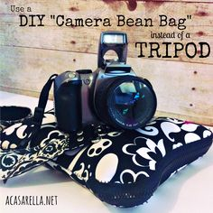 Use this no-sew camera beanbag as an alternative to a tripod.