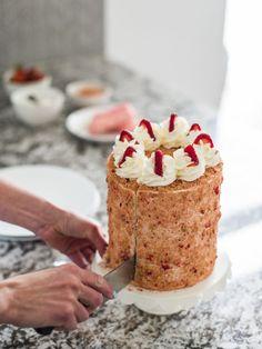 Cake by Courtney: Summer Inspired Strawberry Crunch Cake