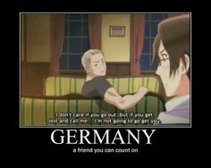Ludwig isn't coming to get you. Me Anime, Manga Anime, Otp, Hetalia Germany, Hetalia Funny, Hetalia Axis Powers, Fandoms, Nerdy, Fangirl