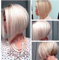 epic hair style Short Bob Wigs, Short Hair Cuts, Medium Hair Styles, Short Hair Styles, Angled Bob Haircuts, Platinum Blonde Hair, Icy Blonde, Corte Y Color, Haircut And Color