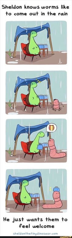 Sheldon the Tiny Dinosaur who Thinks He's a Turtle Sheldon, der kleine Dinosaurier, der glaubt, er sei eine Schildkröte Sheldon The Tiny Dinosaur, Bd Comics, Funny Comics, Cute Funny Animals, Funny Cute, Cute Stories, Laughing So Hard, Stupid Funny, Animal Memes