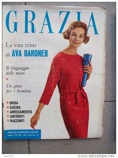 GRAZIA rivista di moda italiana 12/01/1958