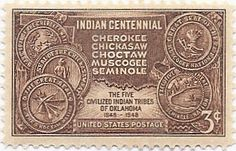 On October 14-15, 1948, people of the Cherokee, Chickasaw, Choctaw, Muscogee and Seminole nations gathered Muskogee, Oklahoma to commemorate the centennial of their forced move [the Trail of Tears] by the United States government from their tribal lands on the East Coast to Indian Territory [later Oklahoma].