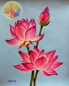 Lotus Drawing, Flower Art Drawing, Flower Sketches, Lotus Flower Drawings, Lotus Flower Paintings, Lotus Artwork, Lotus Painting, Fabric Painting, Tattoo Roman