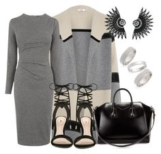 """Loosin' him was dark Grey all alone"" by betty220285 ❤ liked on Polyvore featuring Topshop, Vince, Whistles, ALDO, Givenchy, women's clothing, women's fashion, women, female and woman"