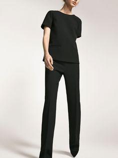 Pantalon ancho negro - Massimo Dutti España