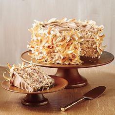 Caramel Italian Cream Cake plus 25 Caramel Dessert Recipes - Southern Living Beaux Desserts, Just Desserts, Yummy Treats, Sweet Treats, Yummy Food, Cupcakes, Cupcake Cakes, Italian Cream Cakes, Italian Cake