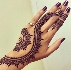 Eid Mehndi-Henna Designs for Girls.Beautiful Mehndi designs for Eid & festivals. Collection of creative & unique mehndi-henna designs for girls this Eid Henna Tattoo Muster, Henna Tattoo Hand, Mandala Tattoo, Henna On Hand, Finger Henna, Foot Henna, Henna Mandala, Tattoo Ink, Henna On Leg