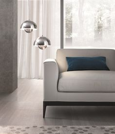 Corner sectional modular leather sofa ANTIBES | Leather sofa - MisuraEmme
