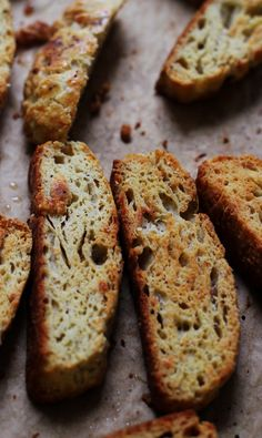 Parmesan and black pepper biscotti are the perfect salty, savory, cheesy soup dunkers.