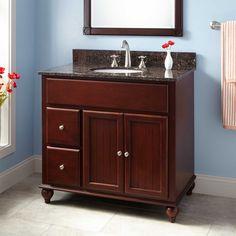 "36"" Dallan Vanity for Undermount Sink - Mahogany"