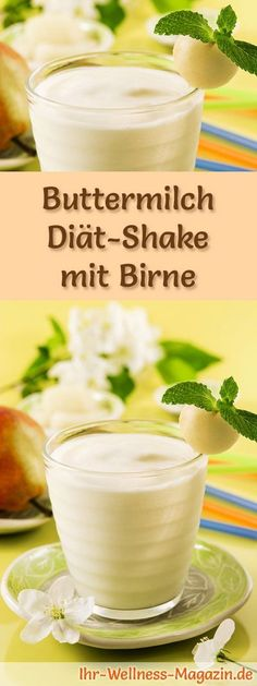 Buttermilch-Shake mit Birne – ein Rezept mit viel Eiweiß und wenig Kalorien, pe… Buttermilk shake with pear – a recipe with lots of protein and low calories, perfect for losing weight, healthy and delicious … Smoothie Fruit, Smoothie Drinks, Smoothie Recipes, Low Carb Shakes, Protein Shakes, Low Carb Smoothies, Good Smoothies, Law Carb, Snacks Sains