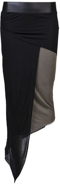 Helmut Lang: Combo Skirt - Lyst.com