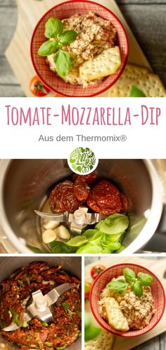 Salsa de tomate y mozzarella de Thermomix® - Fleischrezepte aus dem Thermomix® - Recetas Mozzarella, Breakfast Recipes, Dinner Recipes, Brunch Recipes, Salad Recipes, Healthy Recipes, Mediterranean Spices, Tzatziki, Dried Tomatoes