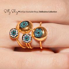 Diamond Evil Eye Ring 14K gold by SillyShiny on Etsy, $599.00