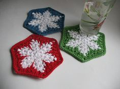 Items similar to Crochet Coasters as white snowflakes Christmas gift Set of 3 hexagon Drink Mats Doilies Cotton on Etsy Crochet Coasters as white snowflakes Christmas gift by ninellfux, Crochet Christmas Gifts, Christmas Gift Sets, Christmas Crochet Patterns, Holiday Crochet, Crochet Snowflakes, Christmas Crafts, Xmas Gifts, Etsy Christmas, Diy Crafts Crochet