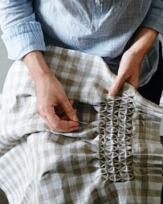 one day i'm going to learn how to smock for my grandbabies.  i'll start with gingham fabric like this!