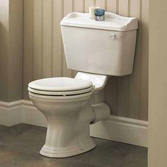 Ryther Close Coupled WC Toilet Pan, Cistern & Soft Close Seat - None from…