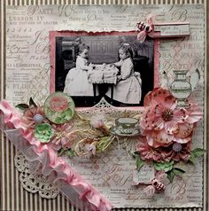 Tea with Friends...scrap a page with embellishments that match your photo for a layout with a theme.