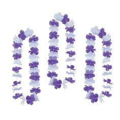 Purple+&+White+Team+Spirit+Flower+Leis+-+OrientalTrading.com