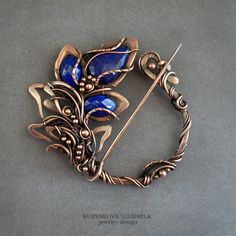 not sure I'll be able to manage this but going to give it a try cause it's so gorgeous Copper Jewelry, Wire Jewelry, Jewelry Art, Beaded Jewelry, Handmade Jewelry, Jewelry Design, Jewellery, Wire Crafts, Jewelry Crafts