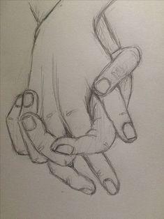 Prática esboço segurando as mãos 4 - pinkishcoconut Zeichnungen iDeen ✏️ Cool Art Drawings, Pencil Art Drawings, Easy Drawings, Hand Pencil Drawing, Beautiful Pencil Drawings, Bff Drawings, Human Heart Drawing, Drawing Hands, Holding Hands Drawing