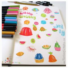 jello sketches for MATS Bootcamp by Mariana :: Floating Lemons #makeartthatsells
