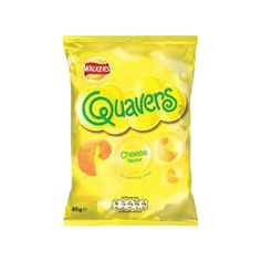 Buy Walkers Cheese Quavers (Case of 32 single-serving bags) . 32 single-serve bags of the light cheese flavor potato snack. Comfort Food British, British Crisps, Potato Snacks, Great British, Good Ol, Snack Recipes, Chips, Food And Drink, England