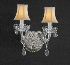 C181-SHADES/2/386  Wall Sconces WALL SCONCE Chandeliers, Crystal Chandelier, Crystal Chandeliers, Lighting