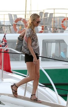 Kate Moss and her daughter spend holidays in Saint Tropez. 8-19-2012