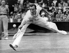 Great Britain's Fred Perry at the All England Cup in 1934