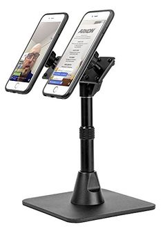 Arkon TW Broadcaster Pro Dual Phone Magnetic Mount Desk Stand Black -- You can find more details by visiting the image link. (It is an affiliate link and I receive commission through sales) Cell Phone Stand, Cell Phone Holder, Reading At Home, Phone Mount, Selfie Stick, Leather Case, Cell Phone Accessories, Magnets, Desk