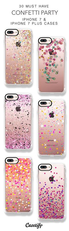 30 Must Have Confetti Party iPhone 7 Cases and iPhone 7 Plus Cases. More Sparkle iPhone case here > https://www.casetify.com/collections/top_100_designs#/?vc=elt9yFwejY #iphonead,