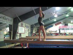 ▶ USAG Level 2 Gymnastics Beam Routine - YouTube Gymnastics Levels, Gymnastics Tricks, Tumbling Gymnastics, Gymnastics Skills, Gymnastics Coaching, Preschool Gymnastics, Gymnastics Floor Routine, Gymnastics Workout, Training