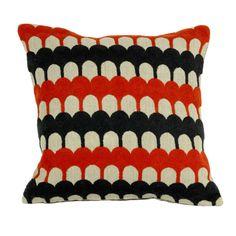 Pantile - Red & Grey, Natural Linen