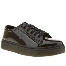 Dr Martens Black Lyric Spin Lace Shoe Patent Flats