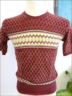 1950's Men's Cable Knit Sweater - Sz M (Item number: 100609, End Time : 03 Aug. 2013 22:18:31) - apeZoot, the market place where Vintage is CULTure!