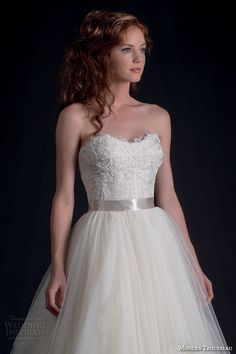 modern trousseau fall 2016 bridal gowns pretty strapless a line wedding ball gown dress lace bodice tulle skirt style tigerlily -- Modern Trousseau Fall 2016 Wedding Dresses Bridal Dresses 2017, Bridal Gowns, Lace Bodice, Lace Dress, Modern Trousseau, Ball Gown Dresses, Vintage Bridal, Bridal Lehenga, Trendy Dresses