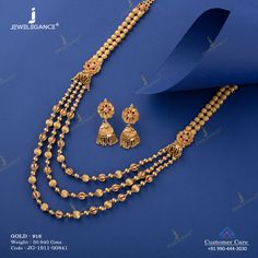 Antique Necklace Set jewellery for Women by jewelegance. ✔ Certified Hallmark Premium Gold Jewellery At Best Price Jewelry Design Earrings, Gold Earrings Designs, Gold Jewellery Design, Necklace Designs, Jewelry Necklaces, Gold Chain Design, Gold Jewelry Simple, Gold Necklace, Antique Necklace