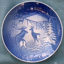 www.cathys-curios.co.uk repinned & tweeted this - Bing and Grondahl 1980 Collector's Christmas Plate