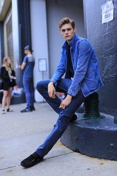 http://chicerman.com  billy-george:  Blues  #streetstyleformen