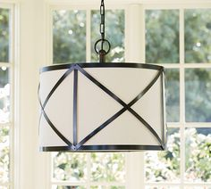 Olsen Linen Drum Pendant, I love this! This is the one I want above my kitchen island :)