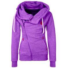 Dámská teplá mikina se zipem fialová – dámské mikiny + POŠTOVNÉ ZDARMA Na  tento produkt se 38d84965d5