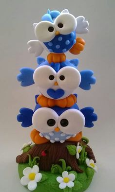 buhos totem - polymer clay