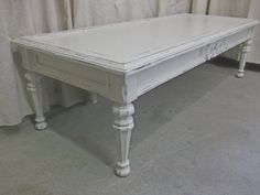 Shabby White Cottage Style Coffee Table  Chic  by royaloakcottage, $195.00