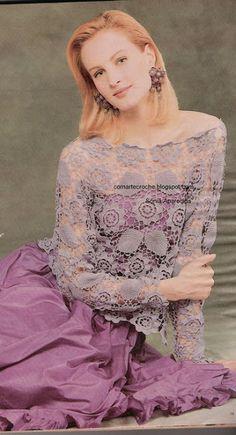 Uncinetto d'oro: Deliziosa tunica di color rosa antico!!!