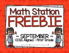 Spice up your math centers and/or math stations with a little beginning of the year number bond game.  This quick and easy center breaks kiddos into the number bond concept in a hands-on and game-like way.  CCSS aligned for first grade :)If you like this FREEBIE, be sure to check out my complete September Math Station Packet.