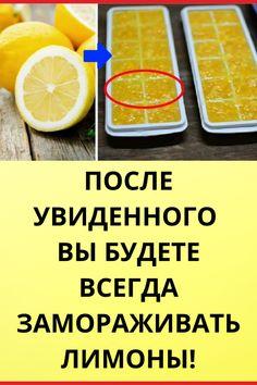 После увиденного вы будете всегда замораживать лимоны! Health Dinner, Small Farm, Diy Home Crafts, Dental Health, Clean Eating, Dinner Recipes, Health Fitness, Weight Loss, Mood